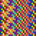 Pattern with colored puzzles