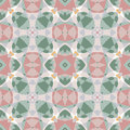 Pattern of colorful abstract mandala shapes seamless Royalty Free Stock Images