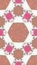 Pattern of colorful abstract mandala shapes seamless Stock Photo