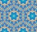 Pattern of colorful abstract mandala shapes seamless Stock Image