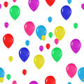 Pattern of colorful balloons in the style of realism. to design cards, birthdays, weddings, fiesta, holidays, invitations o