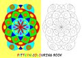 Pattern colouring book for children with circles and elipses Royalty Free Stock Photo