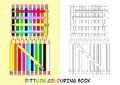 Pattern colouring book for children with color pencils Royalty Free Stock Photo