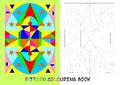 Pattern colouring book for children with geometrical shapes Royalty Free Stock Photography