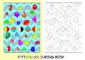 Pattern colouring book for children with numbers from to Stock Images