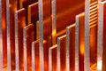 Pattern of copper radiator Stock Photos