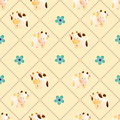 Pattern with cows Royalty Free Stock Photo