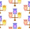 Pattern of cute owls