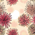 Pattern of the daisies seamless a abstract Stock Photos