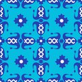 Pattern with dark blue tulips
