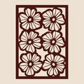 Pattern for decorative panel with floral ornament Royalty Free Stock Photo