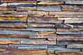 Pattern of decorative slate stone wall background Royalty Free Stock Photo