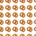 Pattern with delicious pretzel for fast food business.