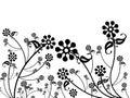 Vzor dizajn z kvetina