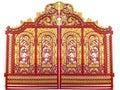 Pattern design of metallic gate Royalty Free Stock Photo