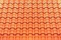 Pattern detail of orange ceramic roof tiles Royalty Free Stock Photo