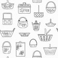 Pattern with different baskets