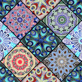 Pattern from different rhombus with mandala