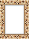 Pattern of dragon  frame II Royalty Free Stock Photography