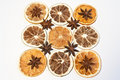 Pattern with dried fruits Royalty Free Stock Photos