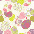 Pattern with easter eggs Royalty Free Stock Image