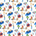 Pattern Easy Moving Vector Illustration Isometric. Royalty Free Stock Photo