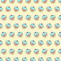 Cupcake - emoji pattern 52