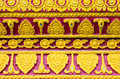 Pattern is encountered in Thailand temple Thailand Royalty Free Stock Photo
