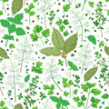 Pattern with flavoring herbs.