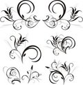 Pattern of floral ornaments for design Royalty Free Stock Photo