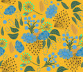 Pattern floral yellow Royalty Free Stock Photo