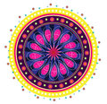 Pattern flower mandala illustration style Stock Photos