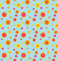 Pattern with  flowers on a blue background. Stock Image