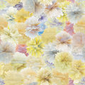 Pattern of flowers - vector seamless texture Stock Photos
