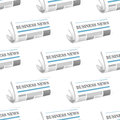 Pattern of folded Business News Stock Photos