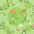 Pattern with frogs.