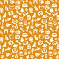 Pattern with funny cat and dog icons Royalty Free Stock Images
