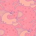 Pattern galloping unicorns