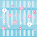 The pattern in gentle tones simple children s with flowers and geometric stripes Stock Photos