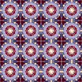 Pattern with geometric shapes and floral elements