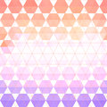 Pattern geometric with triangle and hexagon