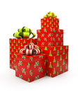 Pattern gift boxes  Stock Images