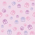 Pattern with gift boxes seamless funny wrapping or background Stock Images