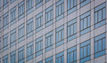 Pattern of glass building windows Royalty Free Stock Image