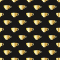 Pattern with a gold cups