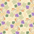 Pattern with grapes Royalty Free Stock Images