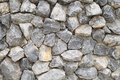Pattern gray color of modern style design stacked stone wall background, real stone wall surface with cement Royalty Free Stock Photo