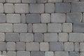 Pattern of gray sidewalk pavers Royalty Free Stock Photo