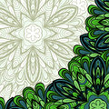Pattern with green corner abstract floral can be used as wallpaper web page background invitation card design etc Stock Images