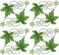 Pattern from green leaves.Seamless figure. Stock Image